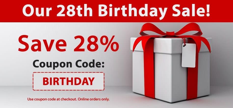 birthday sale