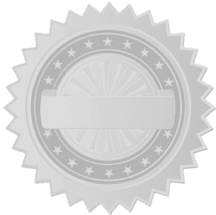 disc certification seal background