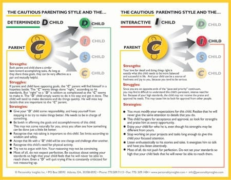 "Flip Chart:  Parenting – Single ""C"" Chart"