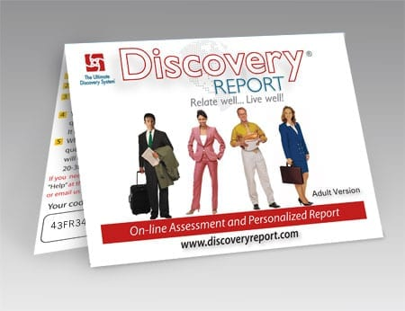 Discovery Report - Adult Personality Test (assessment) And Report  - POSTCARD