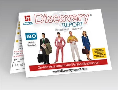 IBO Discovery Report Adult Version - POSTCARD
