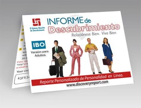 IBO Reporte De Descubrimiento (Discovery Report Adult Version In Spanish) - POSTCARD