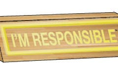 I'm Responsible Desk Plaque
