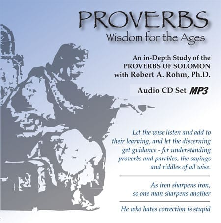 Proverbs Study Series - (Downloadable Format for iPod or MP3 player) of 32 audio sessions