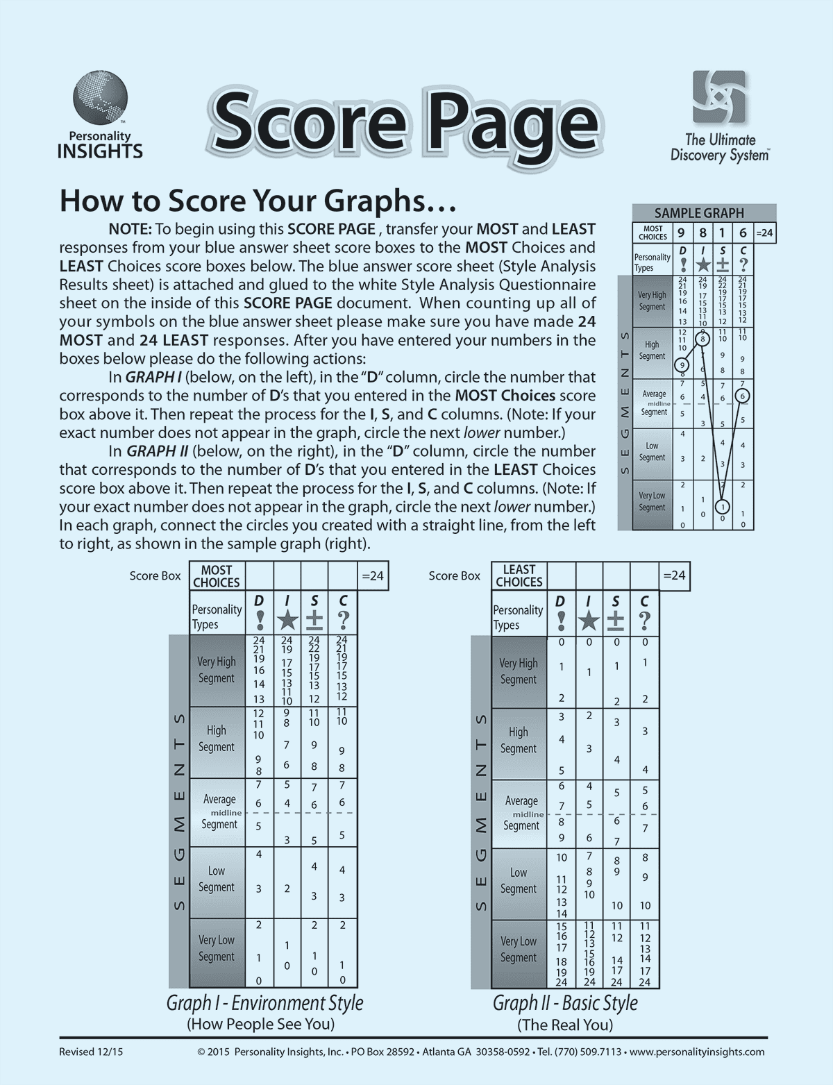 Blue Score Sheet – Adult