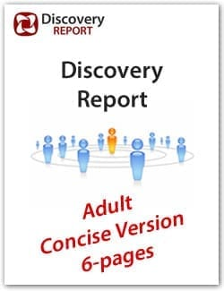Adult DISC Personality Profile, Concise / Mini Version (6-pages), English Discovery Report