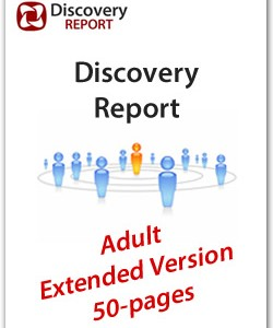 Adult DISC Personality Profile, Extended Version (50-pages), English Discovery Report