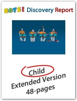 "Child's DISC Personality Profile, Extended (48-page) ""BOTS"" Version, English Discovery Report"