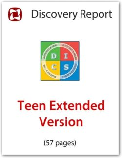 Teen DISC Personality Profile, Extended (57-page) Version, English Discovery Report