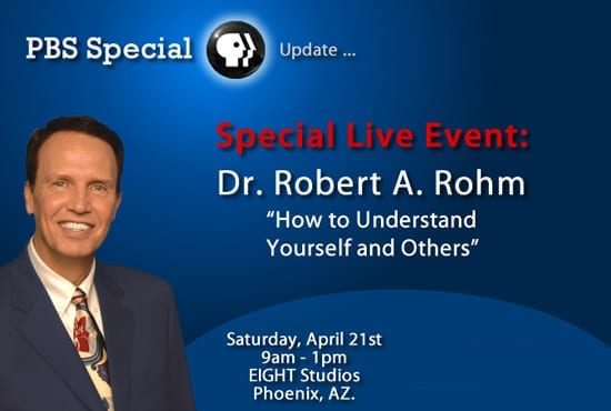 PBS Live Seminar with Dr. Robert A. Rohm