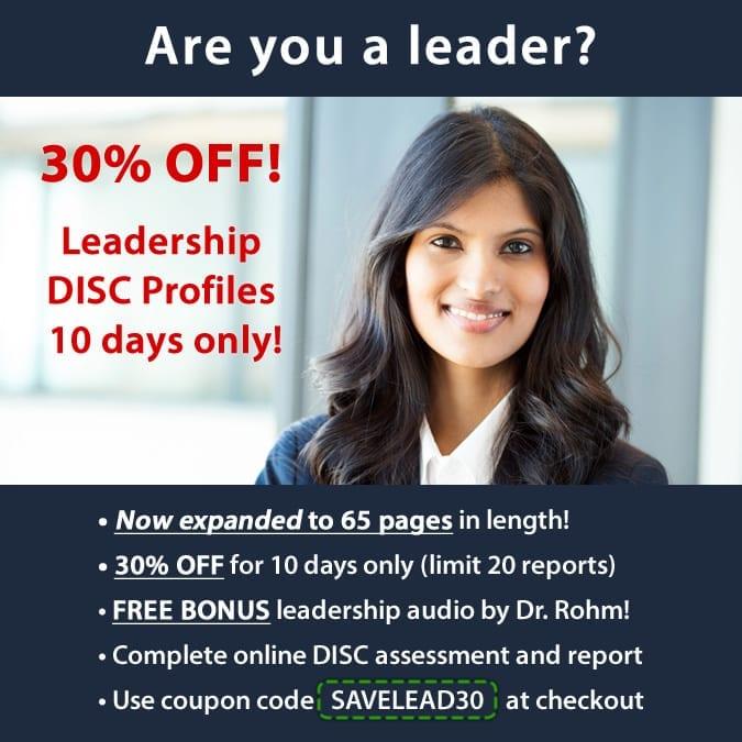 leadership disc personality profile