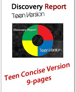 Teen DISC Personality Profile, Concise (12-page) Version, English Discovery Report