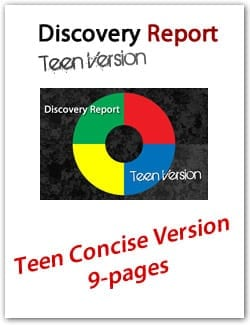 Teen DISC Personality Profile, Concise (9-page) Version, English Discovery Report