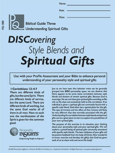 DISCovering Style Blends & Spiritual Gifts - PQ guide