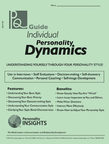 Individual personality dynamics PQ Guide