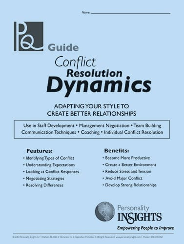 conflict resolution dynamics - PQ guide