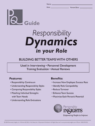 responsibility dynamics in your role - PQ guide