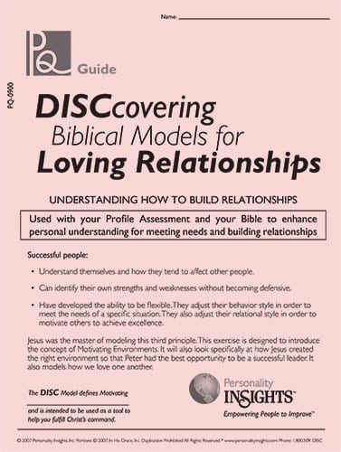 DISCovering Biblical Models for Loving Relationships - PQ guide