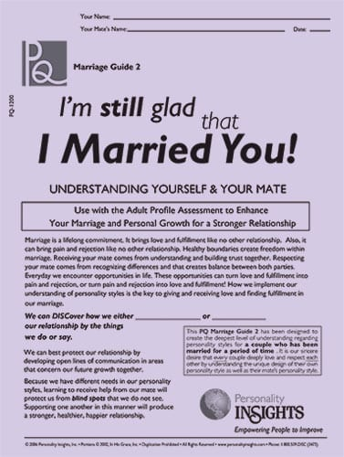 I'm still glad that I married you - PQ guide