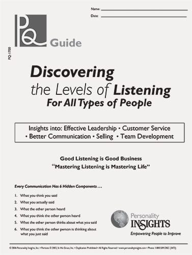 discovering the levels of listening (PQ guide)