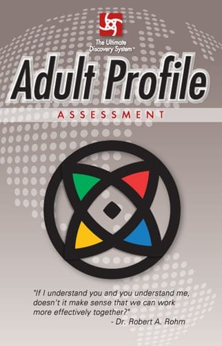 Adult Profile Assessment booklet