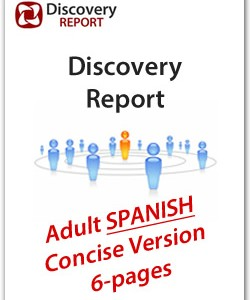 SPANISH – Adult DISC Personality Profile, Concise / Mini Version (6-pages), Discovery Report