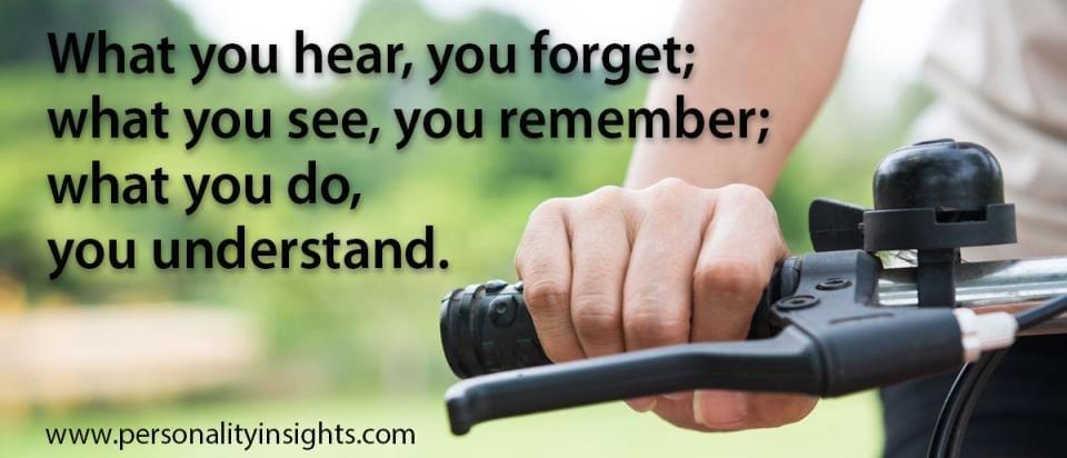 Tip: Hearing, Seeing, Doing