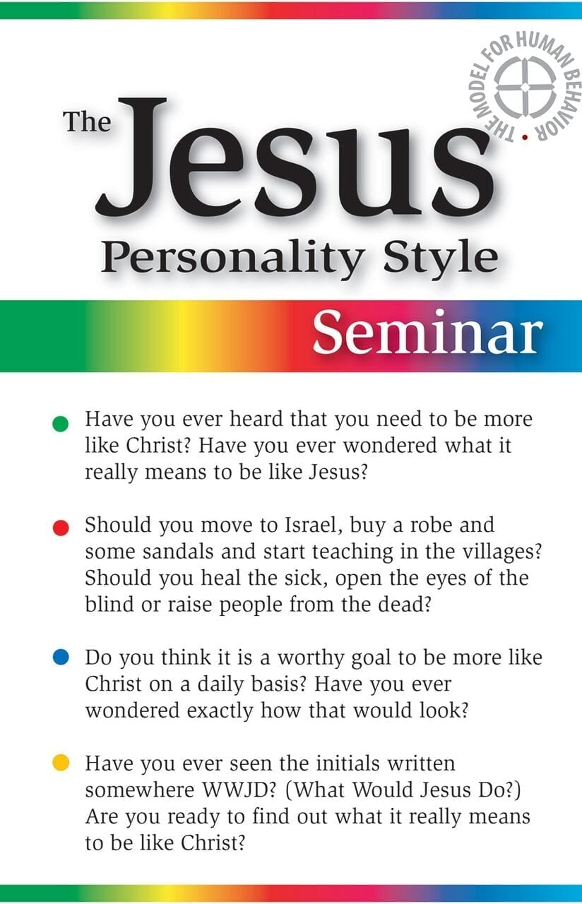 The Jesus Personality Style Seminar Booklet