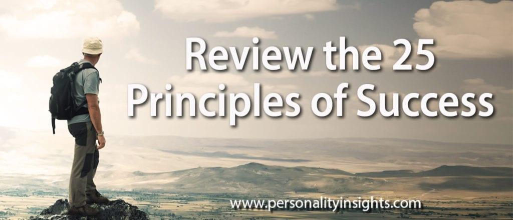 Tip: Review the 25 Principles of Success