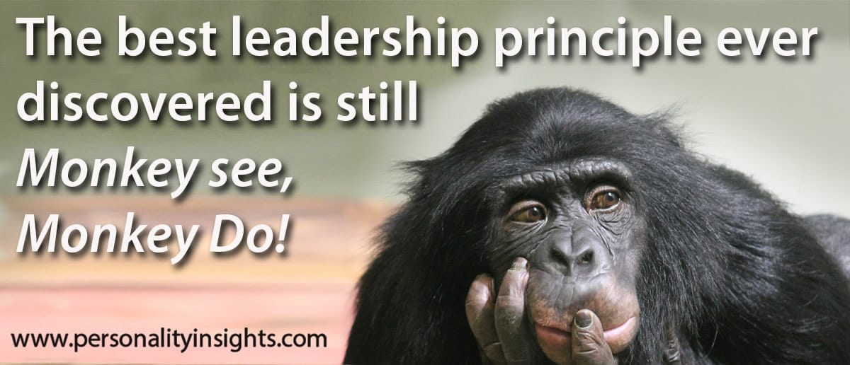 Tip: The Best Leadership Principle Ever Discovered Is Still Monkey See, Monkey Do!