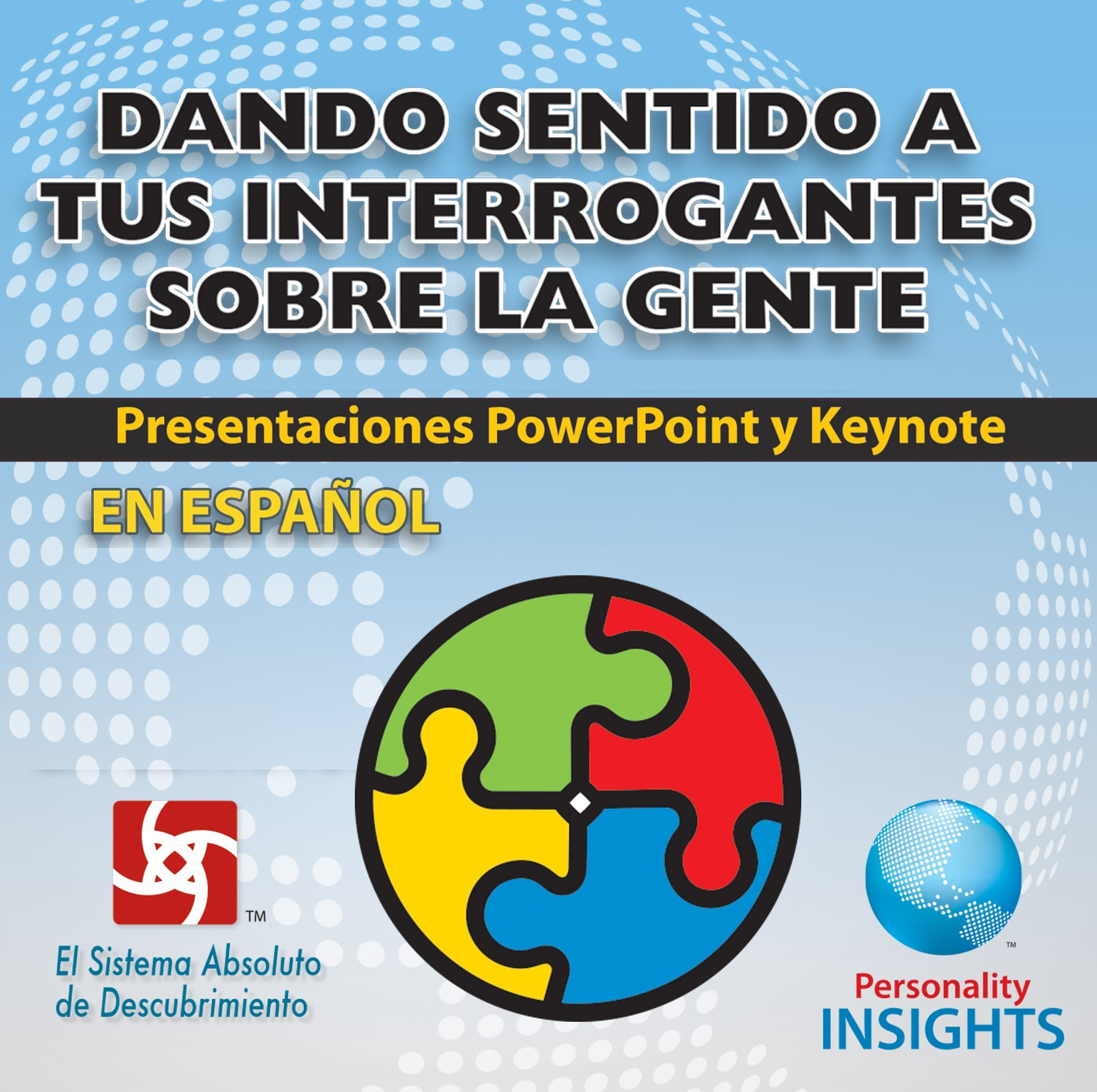 Power Point & Keynote Presentation For *SPANISH* Making Sense Of Your People Puzzles
