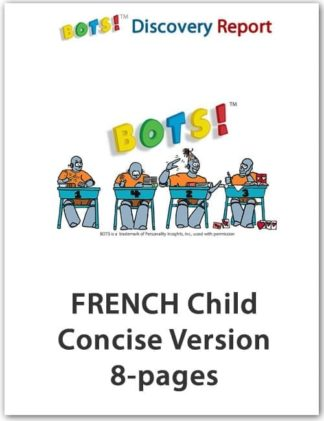FRENCH VERSION – Child's DISC Personality Profile, Concise Length