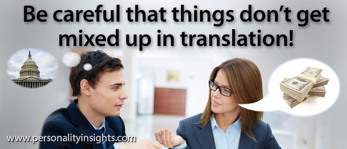 Tip: Be careful that things don't get mixed up in translation!
