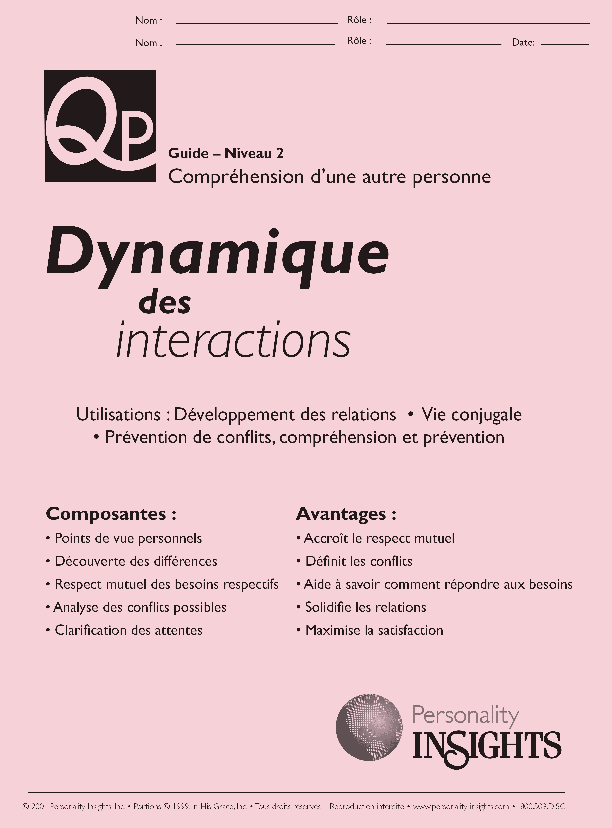 French Interaction Dynamics PQ Guide
