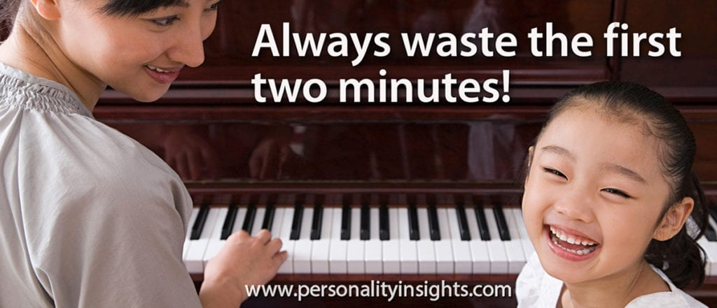 Tip: Always waste the first two minutes!