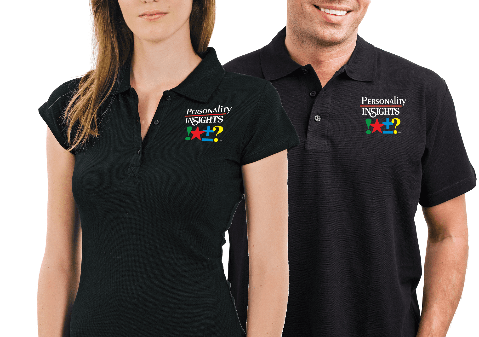 Personality Insights, Inc. Black Polo Shirt