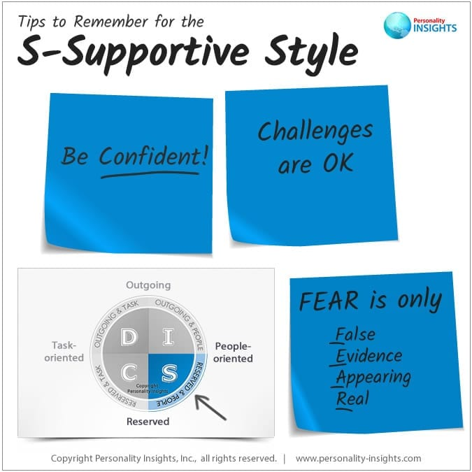 tips for the s-supportive disc personality style