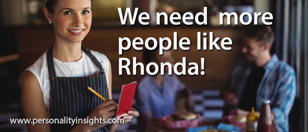 Tip: We need more people like Rhonda!