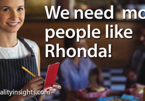 Tip: We Need More People Like Rhonda!