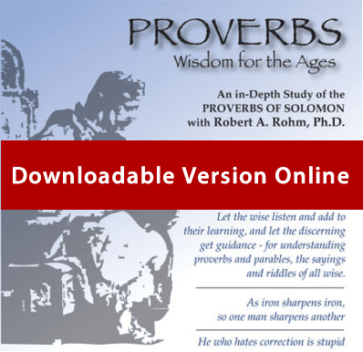Proverbs Study Series – (Downloadable Format)