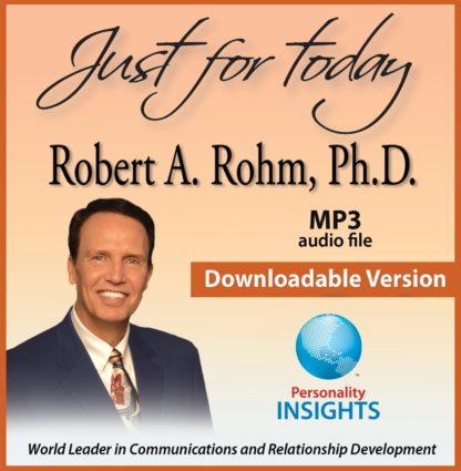 Just for Today - downloadable mp3 files - robert rohm