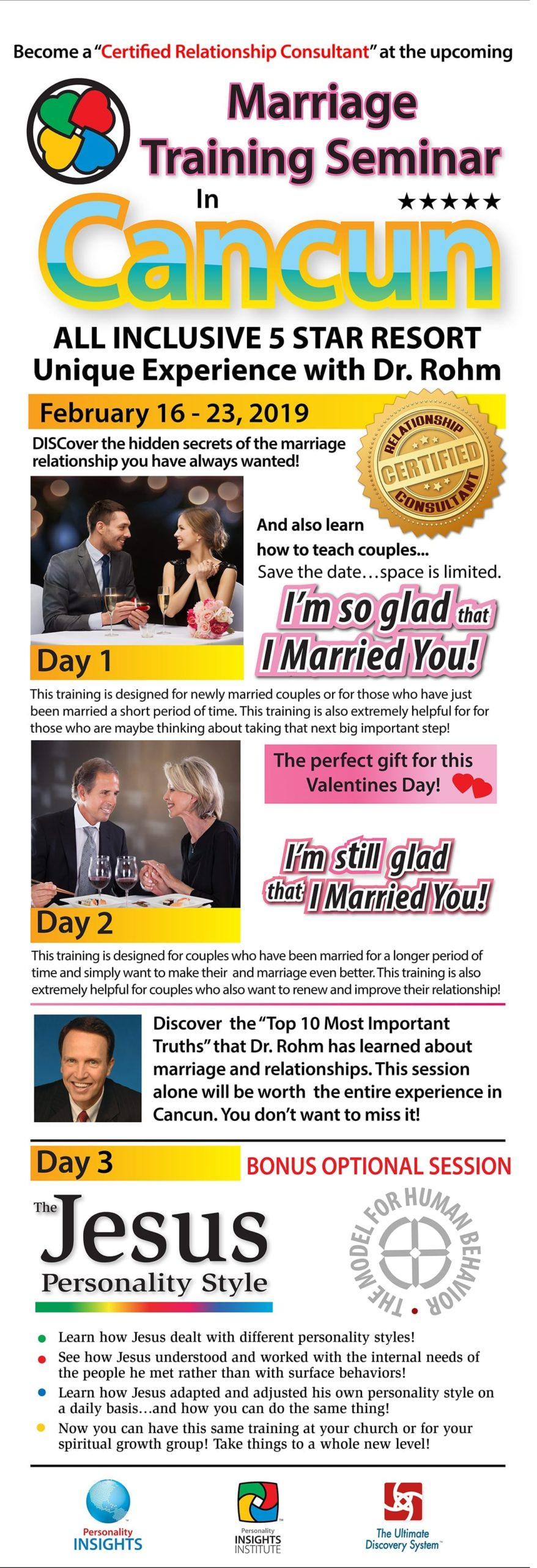 marriage seminar training DISC