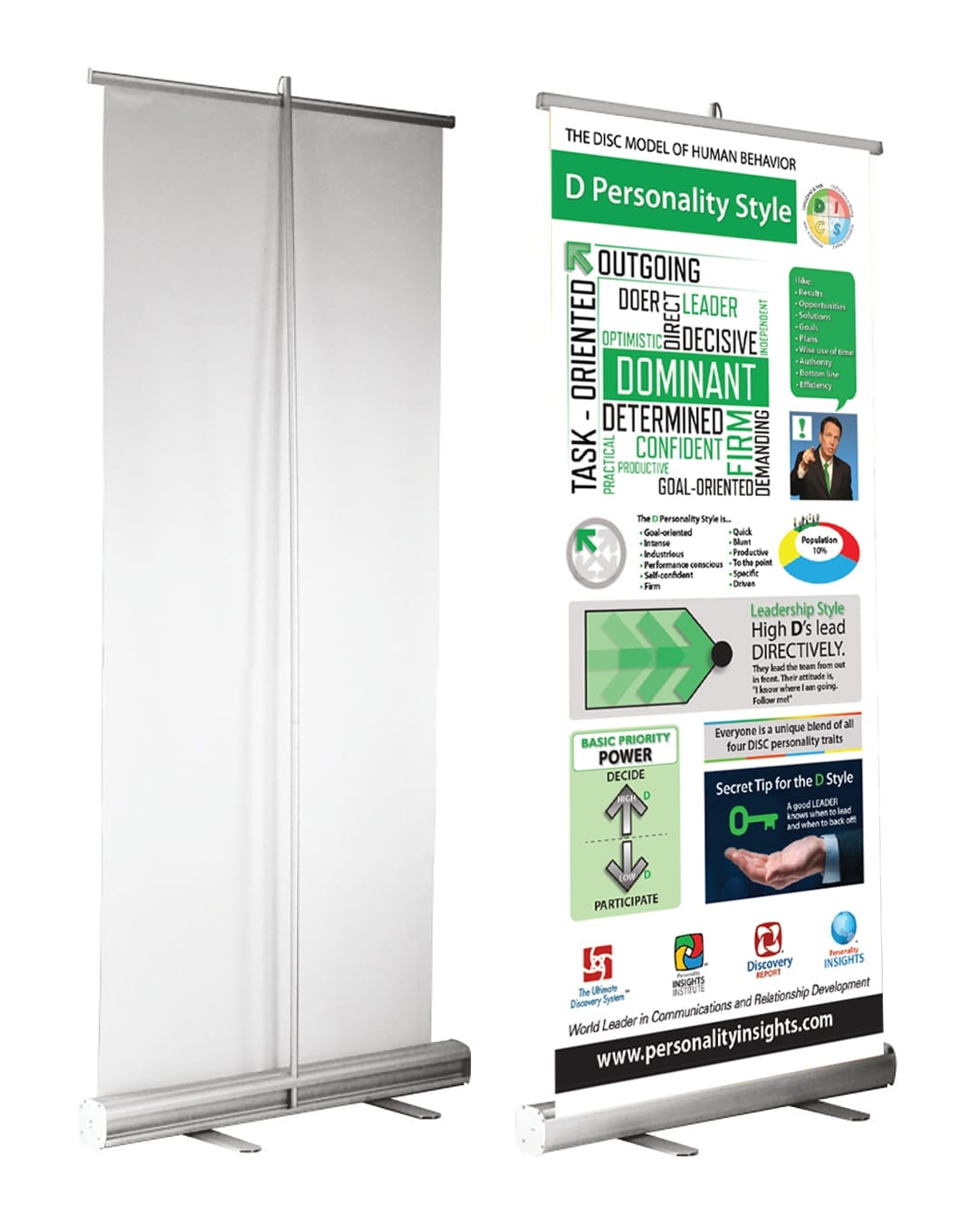Retractable DISC Banners