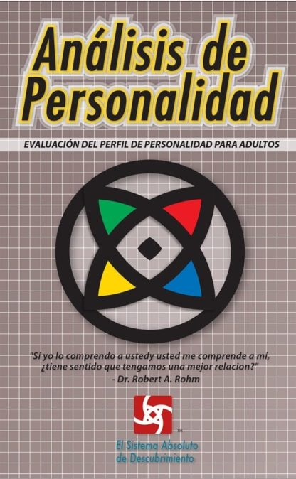 Adult Profile Assessment booklet in Spanish