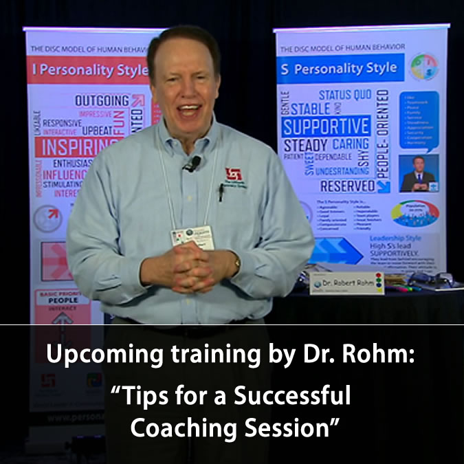 robert rohm training - tips for a successful coaching session